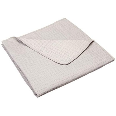 (Twin (68 220cm), Grey) - HollyHOME Luxury Chequered Super Soft Solid Single Pinsonic Quilted Bed...