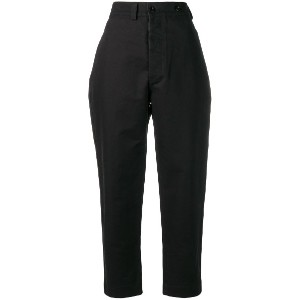 Margaret Howell tapered fit trousers - ブラック