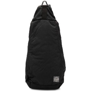 Stone Island logo patch backpack - ブラック