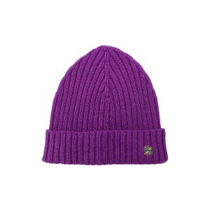 Manuel Ritz ribbed knit beanie - パープル
