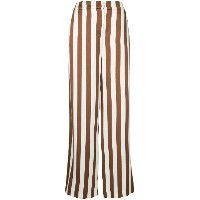 Oscar de la Renta wide leg striped trousers - ブラウン