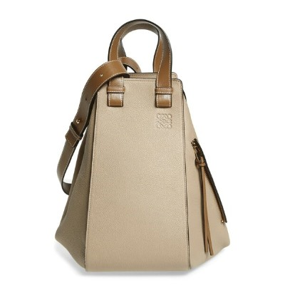ロエベ レディース ショルダーバッグ バッグ Loewe Medium Hammock Calfskin Leather Shoulder Bag Sand/ Mink