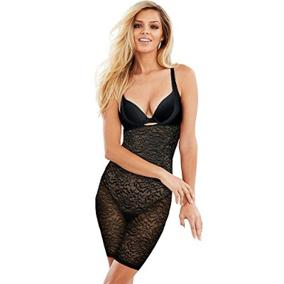 Maidenform 90563805730 Small Sexy Lace Firm Control WYOB Singlet44; Black & Beige