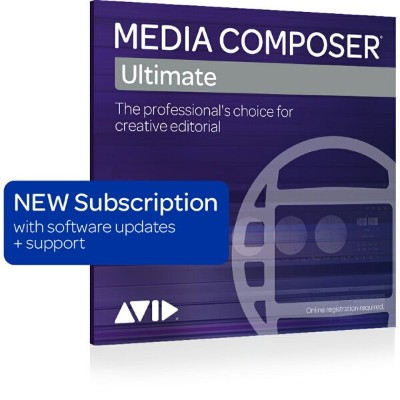 Avid/Media Composer | Ultimate Floating 1-Year Subscription NEW (20 Seat)【新規 サブスクリプション】【フローティングライセンス...