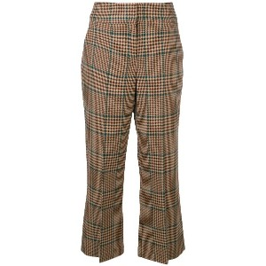 Veronica Beard checked cropped trousers - ニュートラル