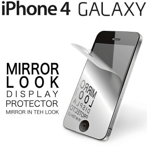 メール便可 ミラーフィルム iPhone4/4s GALAXY SII GALAXY SIII GALAXY Note MIRROR LOOK DISPLAY PROTECTOR 高反射...
