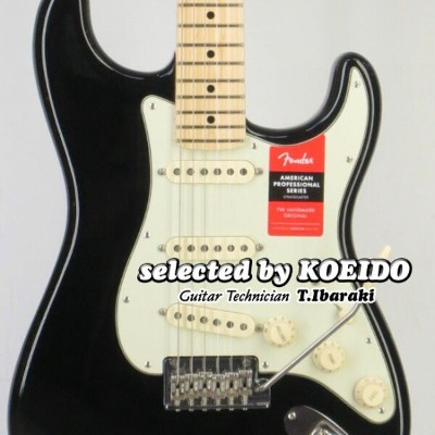 【New】Fender フェンダー USA エレキギター ストラト American Professional Stratocaster BLK/M(selected by KOEIDO)