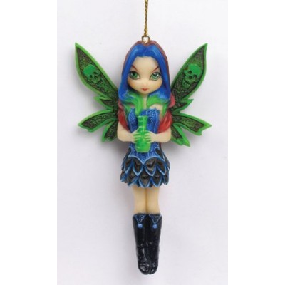 Nepenthe Gothic Winged Fairy Girl Decorative Figurine Ornament by PTC [並行輸入品]