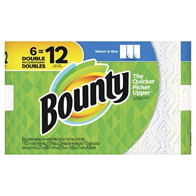 Bounty select-a-size Paper Towels–6Double Rolls