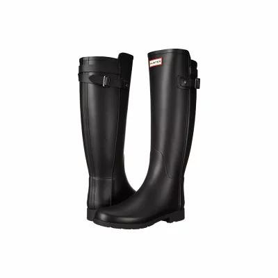 ハンター Hunter レインシューズ・長靴 Original Refined Back Strap Rain Boots Black