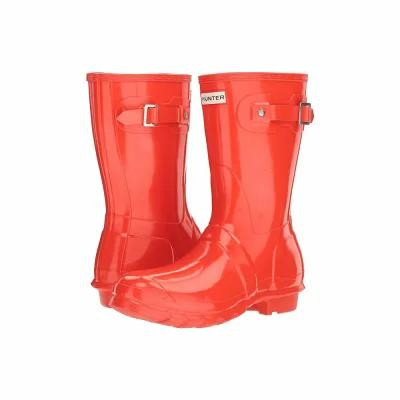 ハンター Hunter レインシューズ・長靴 Original Short Gloss Rain Boots Orange
