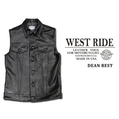 【WEST RIDE/ウエストライド】レザーベスト/18FW DEAN VEST LEATHER★REAL DEAL