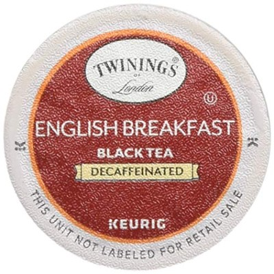 Twinings English Breakfast Decaf Tea 48-Count K-Cups for Keurig Brewers by Twinings