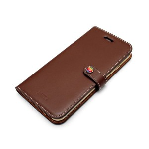 Lim`s LEATHER SLIM FIT EDITION iPhone 6s/6/7/8用○LEIP6SDBR Brown パソコン・モバイル雑貨