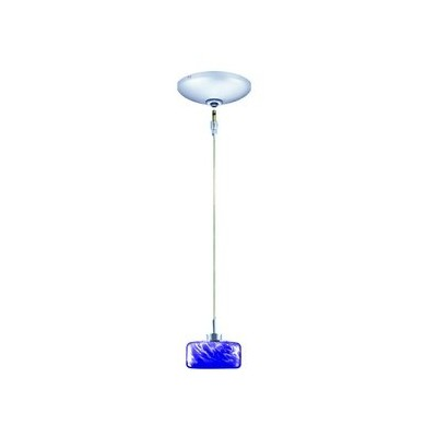 Jesco Lighting KIT-QAP229-BF/CH-B Elaine 1-Light Low Voltage Pendant and Canopy Kit with Polished...