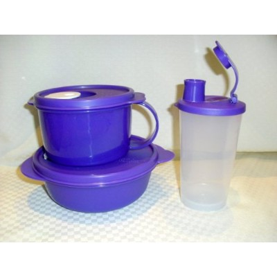 Kitchenware Crystalwave Microwave 3pc Lunch Set NEW Purple
