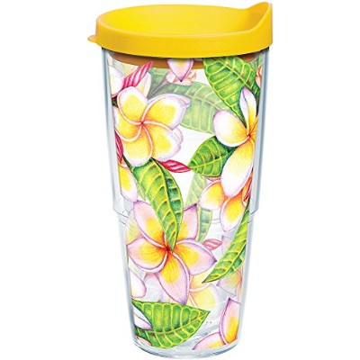 Tervis 1245232ガーデンパーティーTumbler with Wrap、24オンス、クリア