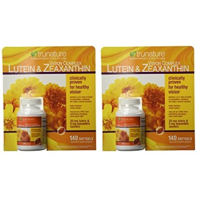 TruNature Vision Complex with Lutein & Zeaxanthin - 2 Bottles, 140 Softgels Each by TruNature