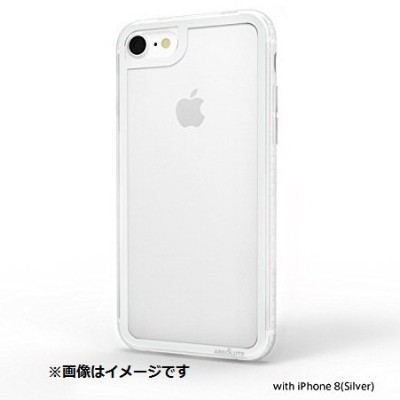 ABSOLUTE・LINKASE CLEAR / Gorilla Glass for iPhone 8/7 (シルバー(ガラス縁)・クリア(TPU))