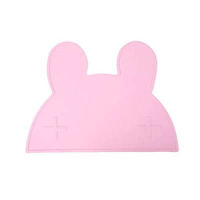 Pet Dog Diet Placemat Anti-Slip Mat Silicone Material Easy To Clean Not Afraid Of Dirty Pink Gray