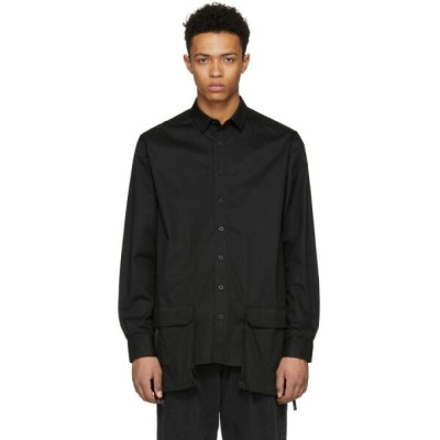 D BY D メンズ トップス シャツ【Black Front Pocket Shirt】
