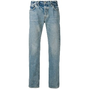 Edwin washed straight leg jeans - ブルー