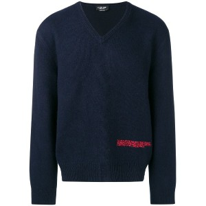Calvin Klein 205W39nyc embroidered logo sweater - ブルー