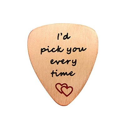 Valentine Best Friend Guitar Pick卒業ギフトハートペンダントI ' d Pick You Every Timeステンレススチール