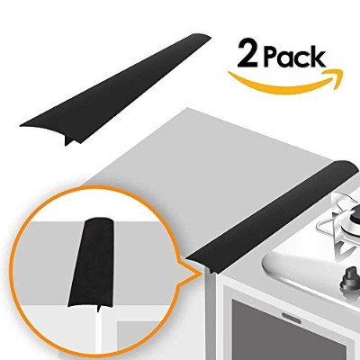 Linda's Silicone Kitchen Stove Counter Gap Cover Long & Wide Gap Cap (2 Pack) Seals Spills Between...