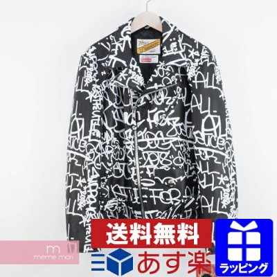Supreme×COMME des GARCONS SHIRT 2018AW Painted Perfecto Leather Jacket シュプリーム×コムデギャルソンシャツ ペイントパーフェクト...