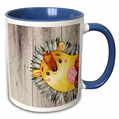 Uta Naumann水彩イラスト動物 – woodland-friends Hedgehog Animal Forest Illustration Funny水彩 – マグカップ 11-oz...