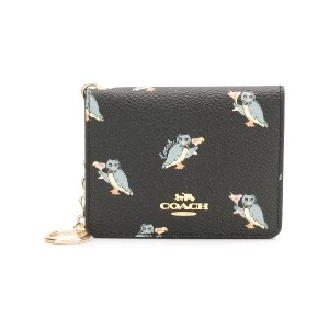 Coach printed small wallet - ブラック