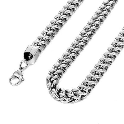(23.0 inches) - Urban-Jewellery Thick Stainless Steel Men's Necklace Chain (Silver Colour, 8 mm...