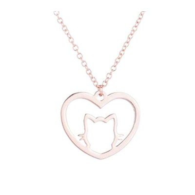 J&W COLLECTION CAT in My Heart ネックレス