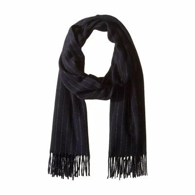 ラルフ ローレン Polo Ralph Lauren マフラー・スカーフ・ストール Cashmere Blend Chalk Stripe Scarf Navy/Charcoal