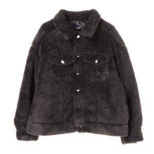 【SALE 20%OFF】グリーンパークス Green Parks ボアGジャン (Black)