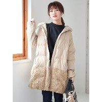 【SALE 24%OFF】グリーンパークス Green Parks 中綿ロングコート (Beige)