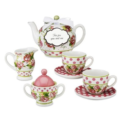 Pavilionギフト49001 Tea for You and Me Mini Teaセットby Jessie Steele