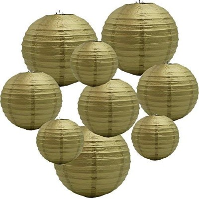 (Gold) - ADLKGG Round Hanging Paper Lanterns Decorations for Party Wedding Birthday Baby Showers...