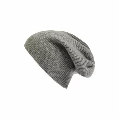 ハロゲン HALOGEN ニット Slouchy Cashmere Beanie Grey Medium Heather