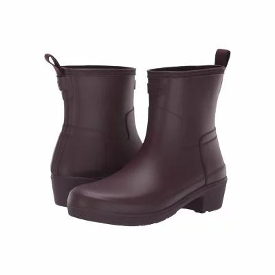 ハンター Hunter レインシューズ・長靴 Refined Low Heel Ankle Biker Rain Boots Oxblood