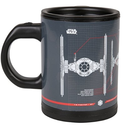 Star Wars Tie Fighter Self-Stirring Travel Mug - Mix Your Drink with the Force -350ml