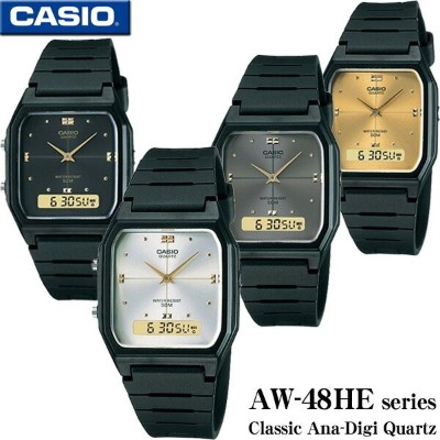 CASIO AW-48HE series カシオ Ana-Digi アナデジ Quartz 男女兼用 ユニセックスサイズ 腕時計 チプカシ【AW-48HE-1A】【AW-48HE-7A】【AW...