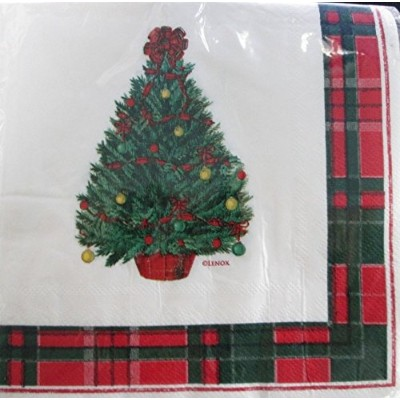 Lenox Vintage Holiday Luncheonペーパーナプキン、Pkg of 40