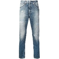 Calvin Klein Jeans distressed detail jeans - ブルー
