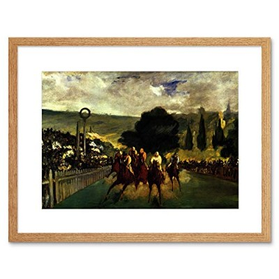 Manet Race Longchamp Edouard Manet Old Master Framed Wall Art Print レースオールドマスター壁