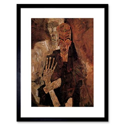 Egon Schiele Unlicensed Or Even Death Man Old Master Framed Wall Art Print 死オールドマスター壁