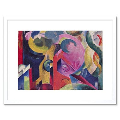 Franz Marc Composition Iii Old Master Picture Framed Wall Art Print 組成オールドマスター画像壁