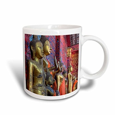 (440ml) - 3dRose mug_188353_2 Laos, Luang Prabang Statues of Buddha Inside Buddhist Temple Ceramic...