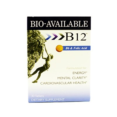 Sublingual B12, B6 ,+ Folic Acid Fast Dissolve Tabs 30 Tablets (2 Pack) by Heaven Sent Naturals